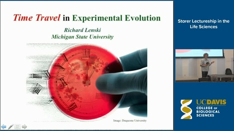 Thumbnail for entry Storer Lecture - Richard Lenski 10-7-15