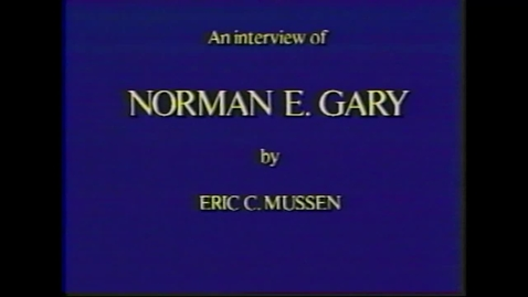 Thumbnail for entry Norman Gary