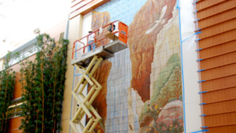 Thumbnail for entry 2010 Timelapse of Installation of Yoshio Taylor's Resurgence