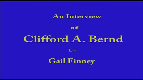 Thumbnail for entry Clifford Bernd