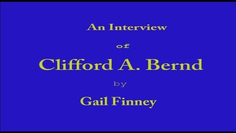 Thumbnail for entry Clifford Bernd