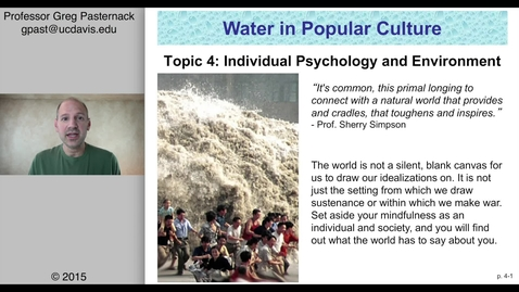 Thumbnail for entry SAS004: Individual Psychology and Environment