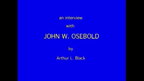 Thumbnail for entry John Osebold