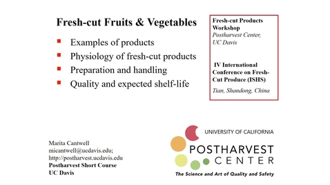 Thumbnail for entry Fresh-cut Fruits & Vegetables (Cantwell)