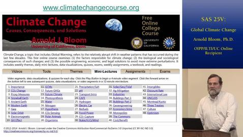 Thumbnail for entry Science and Society 25V: Global Climate Change | Online and Hybrid Showcase 2014