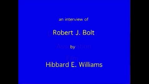 Thumbnail for entry Robert Bolt