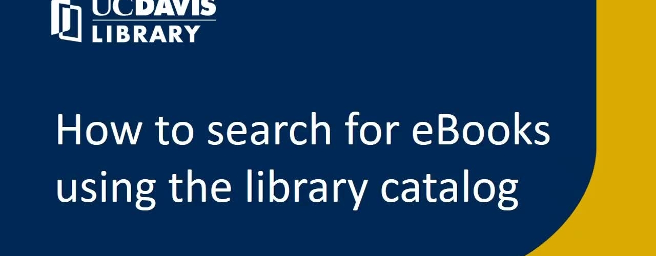 How to search for eBooks using the library catalog