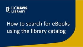 Thumbnail for entry How to search for eBooks using the library catalog