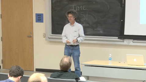 Thumbnail for entry Storer Lecture Series - lkka Hanski 4-26-2012