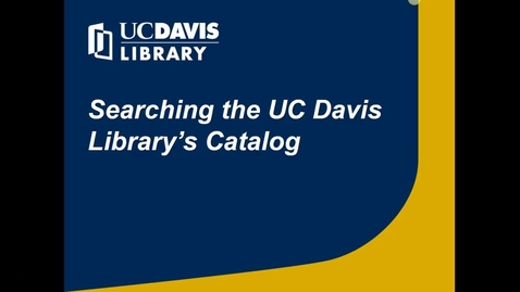 Thumbnail for entry Why Search the Library's Catalog