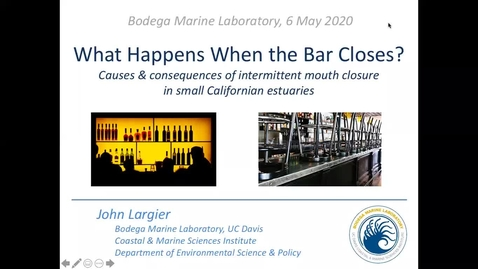 Thumbnail for entry BML - John Largier: What happens when the bar closes?