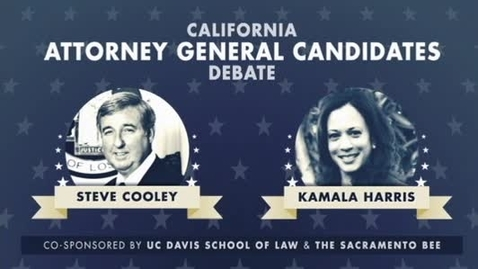 Thumbnail for entry State Attorney General Debate - Kamala Harris, Ken Cooley 10-05-2010