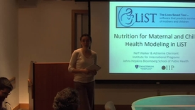 Thumbnail for entry Nutrition for Maternal and Child Health Modeling in LiST