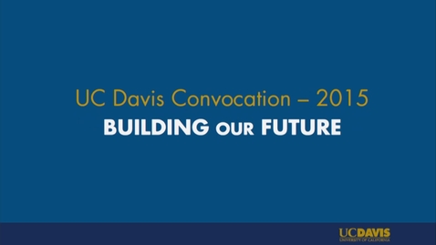 Thumbnail for entry 2015 Fall Convocation - 09-22-2015