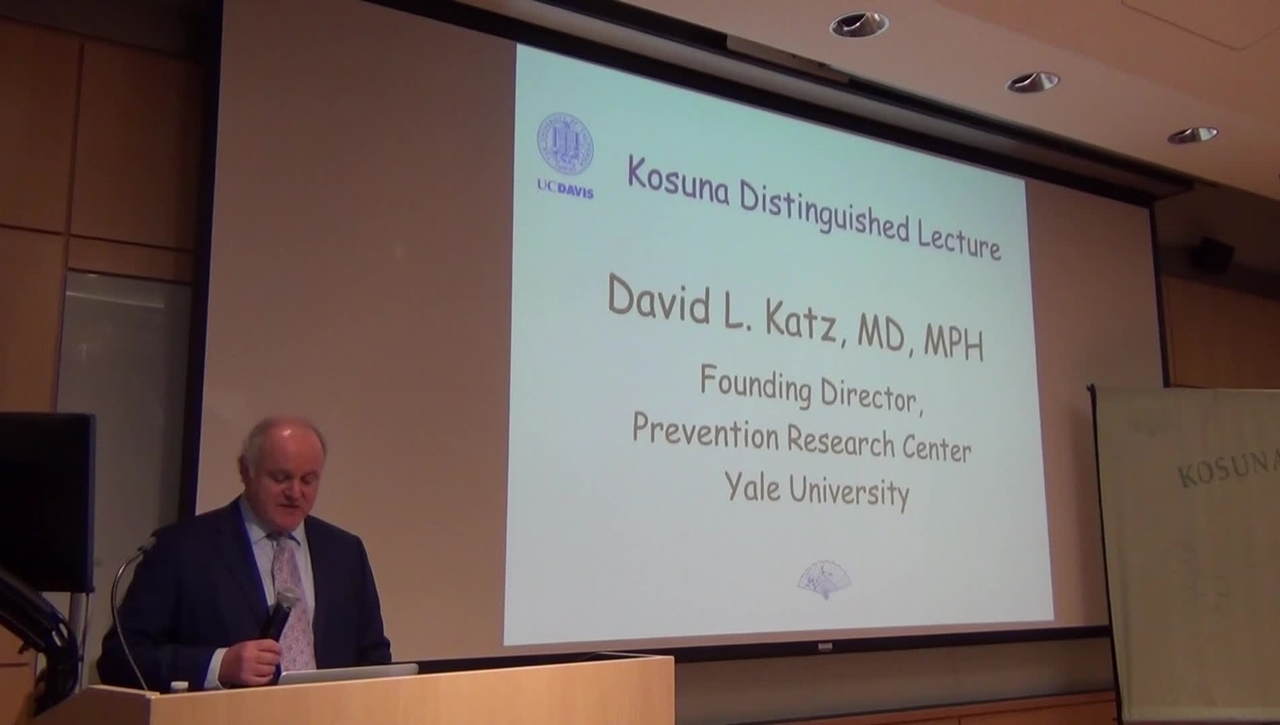 "David L. Katz presents on ""The Truth About Food: Overall Pattern of Chronic Diseases in Modern Societies"""