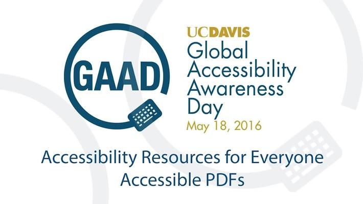 GAAD 2016 Resource Talks - Accesibile PDFs