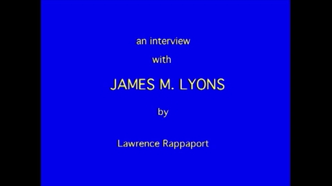 Thumbnail for entry James Lyons