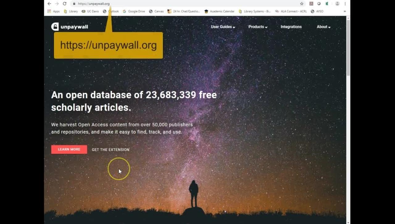 Unpaywall (Chrome and Firefox)