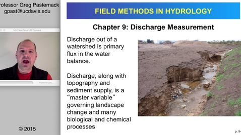 Thumbnail for entry HYD151: Streamflow Measurement