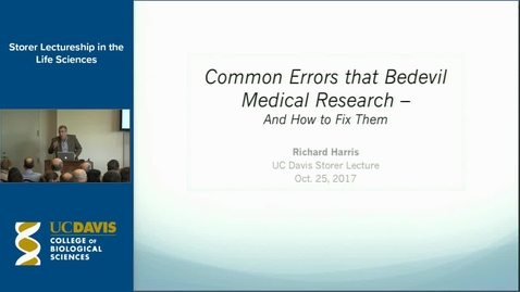 Thumbnail for entry Storer Lecture - Richard Harris 10-25-17