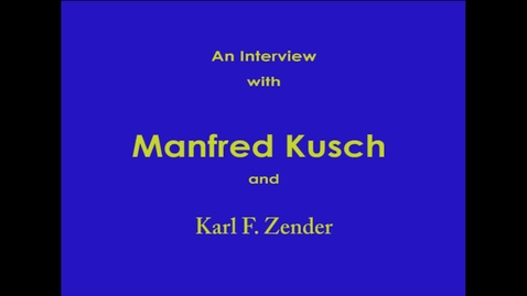Thumbnail for entry Manfred Kusch
