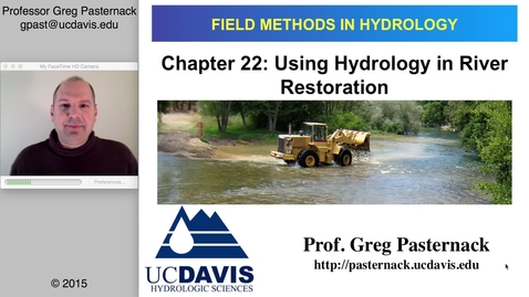 Thumbnail for entry HYD151: Use of Hydrology in River Restoration
