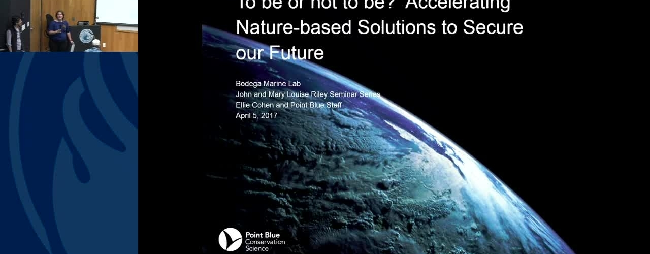 BML - Ellie Cohen: To be or not to be? Accelerating Nature-based Solutions to Secure our Future
