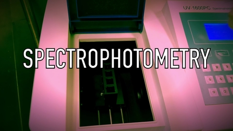 Thumbnail for entry VEN123L Video 5.1 - Spectrophotometry