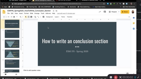 Thumbnail for entry ESM195_Spring2020_HowToWriteConclusion