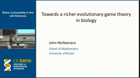 Thumbnail for entry Storer Lecture - John McNamara 10-27-16