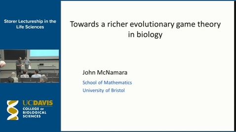 Thumbnail for entry Storer Lecture - John McNamara 10-27-16