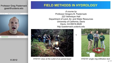Thumbnail for entry HYD151: Introduction to Field Methods in Hydrology, part 1