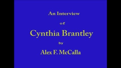 Thumbnail for entry Cynthia Brantley