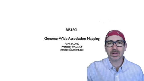 Thumbnail for entry BIS180L Lecture 8 GWAS