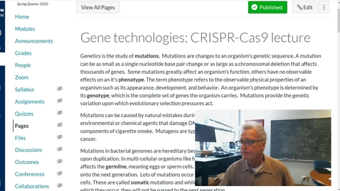 Thumbnail for entry Gene technologies: CRISPR