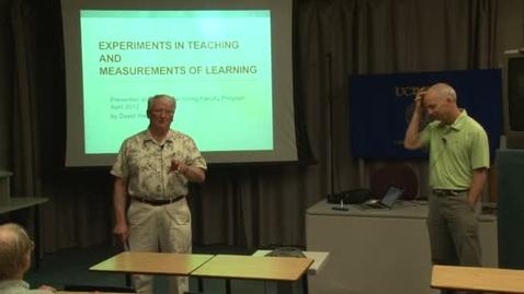 Thumbnail for entry Faculty Mentoring Faculty Program (FMFP) 2011-12: 04-26-12  David Webb