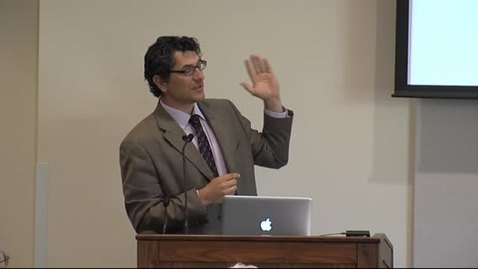 Thumbnail for entry The Provost's Forum 2013-14: Cyrus Mody and Mario Biagioli