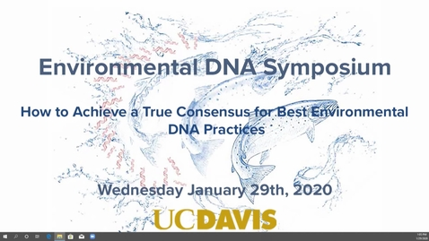 Thumbnail for entry eDNA Symposium - Chris Jerde - Jan 29th 2020