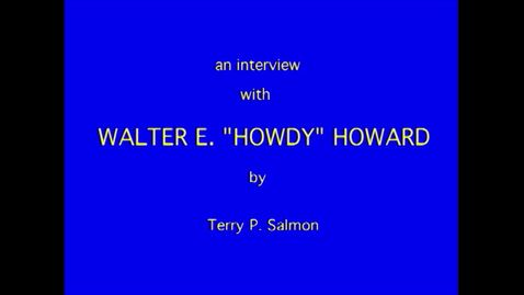 Thumbnail for entry Walter Howard