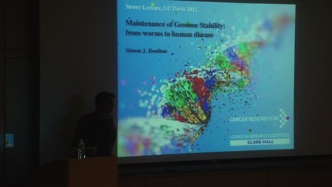 Thumbnail for entry Storer Lecture Series - Simon Boulton 11-19-2012
