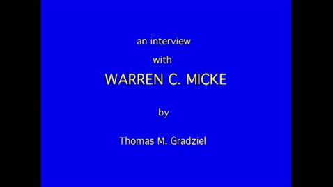 Thumbnail for entry Warren Micke
