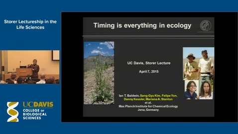 Thumbnail for entry Storer Lecture - Ian Baldwin 4-7-15