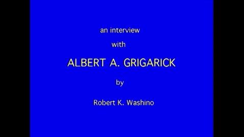 Thumbnail for entry Albert Grigarick