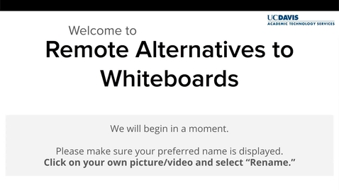 Thumbnail for entry ATS Webinar: Remote Alternatives to Whiteboards