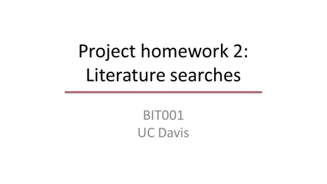 Thumbnail for entry Scientific literature searches
