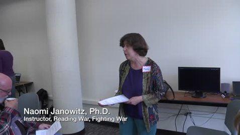 Thumbnail for entry Online Showcase: Reading War, Fighting War
