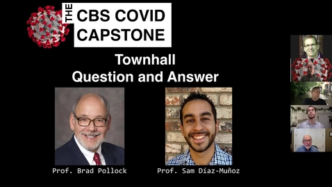 Thumbnail for entry Town Hall 1 Profs. Diaz-Munoz and Pollock