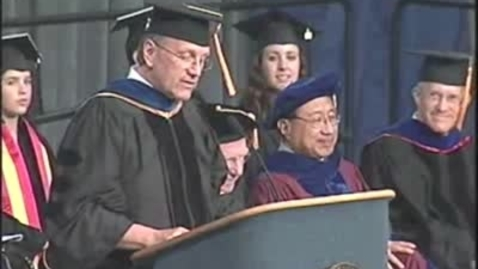 Thumbnail for entry 2009 - Chancellor Larry Vanderhoef Speaks at the College of Letters and Science Commencement Ceremony