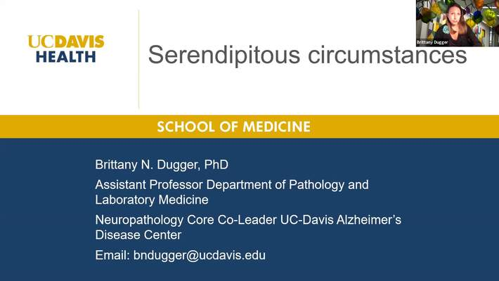 2020.07.02 - Dr. Brittany Dugger, UC Davis - Careers in Pathology and Laboratory Medicine