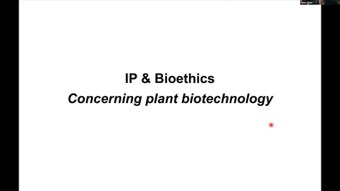 Thumbnail for entry PBI298 Lecture#9 - IP & Bioethics